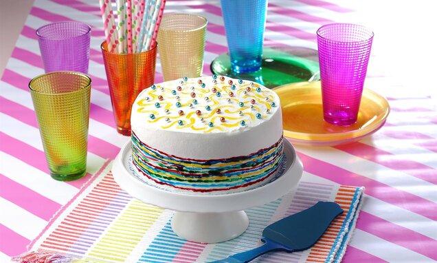 Renkli İncili Pasta